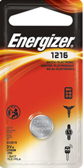 Energizer CR1216 Lithium Coin Cell Battery