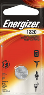 Energizer CR1220 Lithium Coin Cell Battery