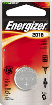 Energizer CR2016 Lithium Coin Cell Battery