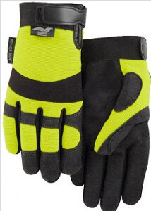 Majestic Yellow High-Visibility Synthetic Leather Gloves