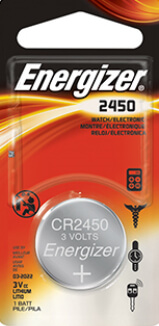 Energizer CR2450 Lithium Coin Cell Battery