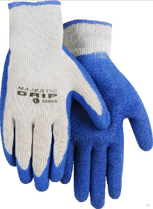 Box of 12 M-Safe Cotton Poly Gloves with Latex Palm