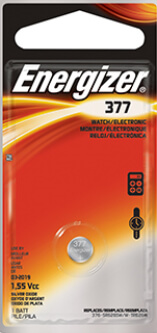 Energizer 377-376 Silver Oxide Coin Cell Battery