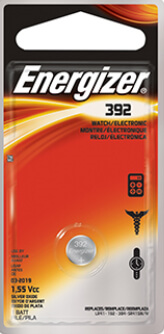 Energizer 392-384 Silver Oxide Coin Cell Battery