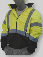 Majestic Class 3 Yellow/Black Bottom High-Visibility Bomber Jacket