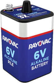 Rayovac 6 Volt Spring Top Battery