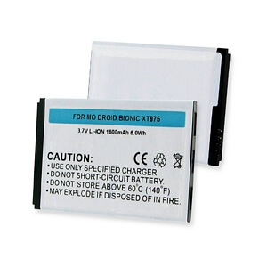 MOTOROLA DROID BIONIC / XT875 3.7V LI-ION 1600mAh BATTERY
