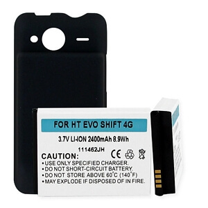 HTC EVO SHIFT 4G LI-ION 2400mAh/COVER