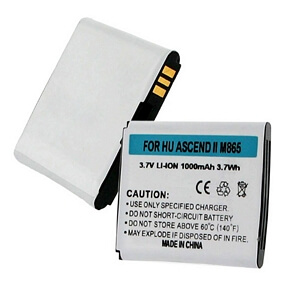HUAWEI ASCEND II M865 3.7V 1000mAh LI-ION BATTERY