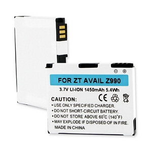 ZTE AVAIL Z990 / V860 / N760 3.7V 1450mAh LI-ION BATTERY