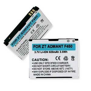 ZTE ADMANT F450 3.7V 920mAh LI-ION BATTERY
