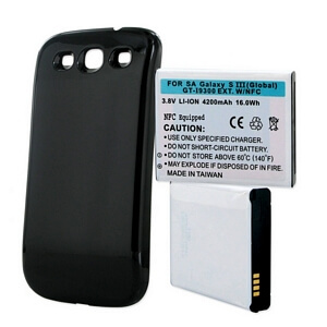 SAMSUNG GALAXY S3 4200mAh EXTENDED BATTERY WITH NFC BLACK CVR