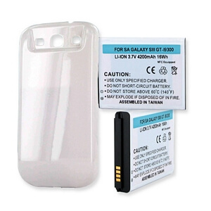 SAMSUNG GALAXY S3 4200mAh EXTENDED BATTERY WITH NFC AND COVER