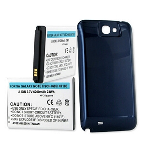 SAMSUNG GALAXY NOTE II 6.2Ah LI-ION EXTENDED BATTERY / NFC COVER