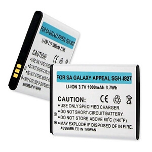 SAMSUNG GALAXY APPEAL SGH-I827 3.7V 1000mAh LI-ION BATTERY