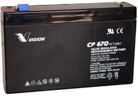 PS670, CP670H, Sealed Lead Acid Battery