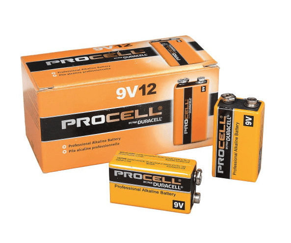 Duracell Procell 9V Alkaline Batteries PC1604