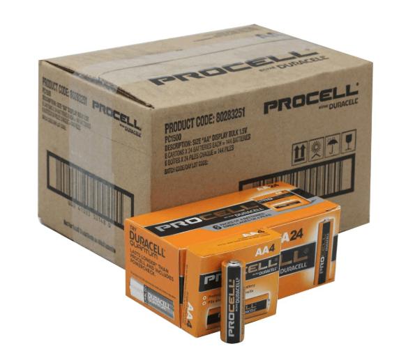 Duracell ProCell Batteries   Duracell AA Batteries   9V
