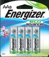 Energizer EcoAdvanced™ AA Batteries - 8Pk