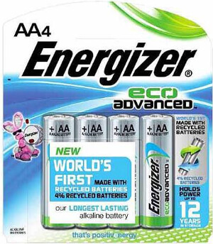 Energizer EcoAdvanced™ AA Batteries - 4Pk