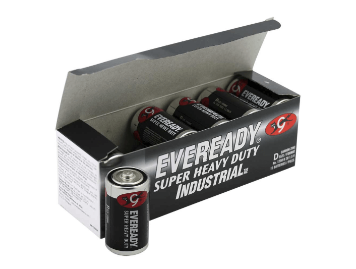 Eveready 1.5V Super Heavy Duty D Batteries Bulk Order