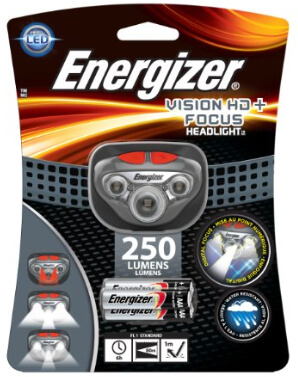 Energizer Headlamp 250 Lumens – Water Resistant HDDIN32E