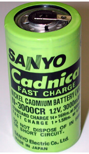 Sanyo N3000CR NiCad Rechargeable Battery