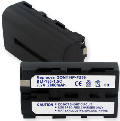 Sony NP-F550 Replacement Li-ion Camcorder Battery