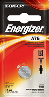 Energizer A76 Alkaline Coin Cell Battery