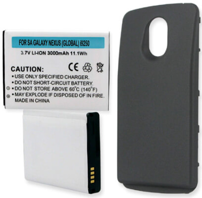 SAMSUNG GALAXY NEXUS GLOBAL GT-I9250 3000mAh EXTENDED BATTERY