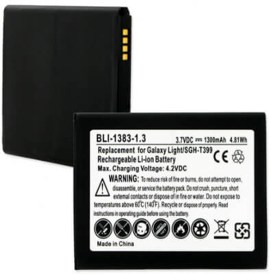 SAMSUNG GALAXY LIGHT SGH-T399 B105BU 3.7V 1.3Ah LI-ION BATTERY