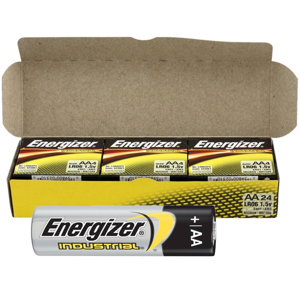 EN91 Energizer Industrial AA Alkaline Battery Bulk Wholesale