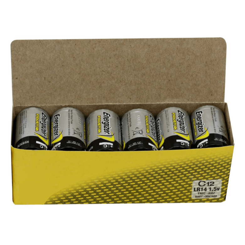 12pk Energizer Industrial C EN93 Batteries