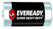 Eveready 1.5V Super Heavy Duty D Batteries