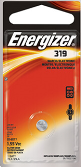 Energizer 319 Silver Oxide Coin Cell Battery