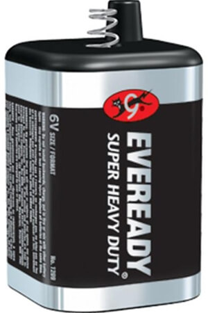 Eveready 6V Spring-Top Super Heavy Duty Batteries