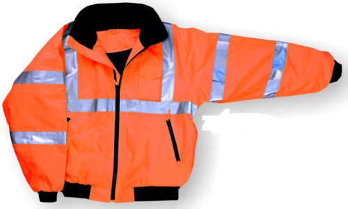 Majestic Class 3 Orange High-Visibility Bomber Jacket