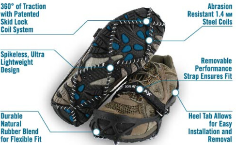 Yaktrax Pro Winter Traction - X-Large