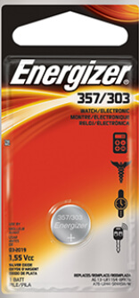 Energizer 357-303 Silver Oxide Coin Cell Battery