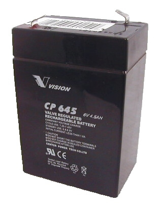 PS640, CP645, Sealed Lead Acid Battery