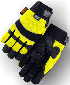 Armor Skin Yellow Heatlok, Insulated High-Visibility Synthetic Leather Gloves