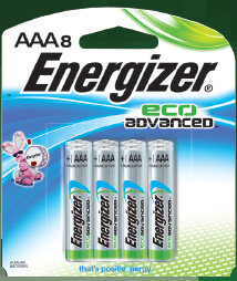 Energizer EcoAdvanced™ AAA Batteries - 8Pk