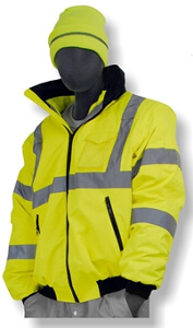 Majestic Class 3 Yellow High-Visibility Bomber Jacket